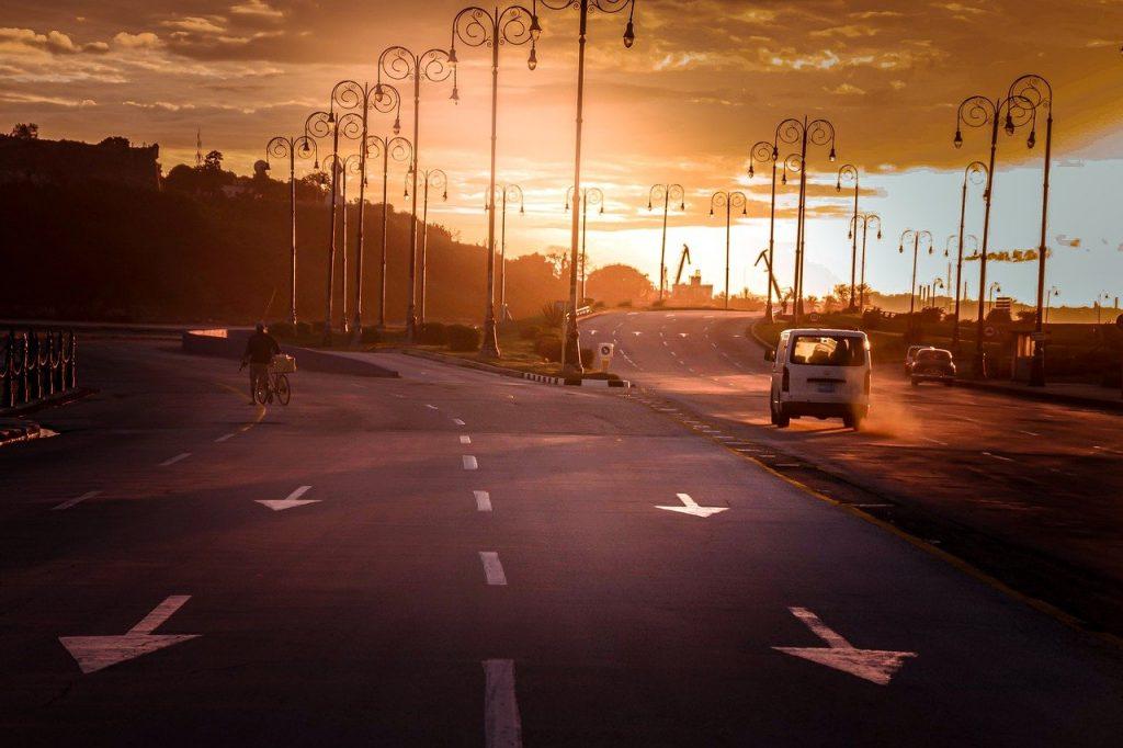 sunset roadway